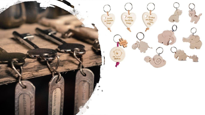 Süße Holz Schlüsselanhänger Online Kaufen Bei Allgaier Allerlei