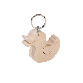 Schlüsselanhänger aus Holz - Ente