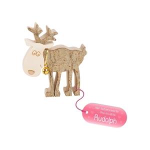 """Holz Rentier """"Rudolph"""" - klein"""