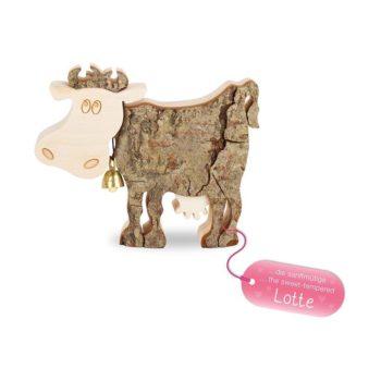"Kuh aus Holz ""Lotte"" - mittel"