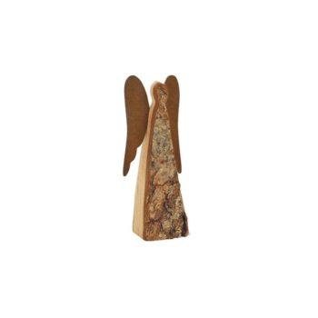 Engel Figur aus Holz 12 cm