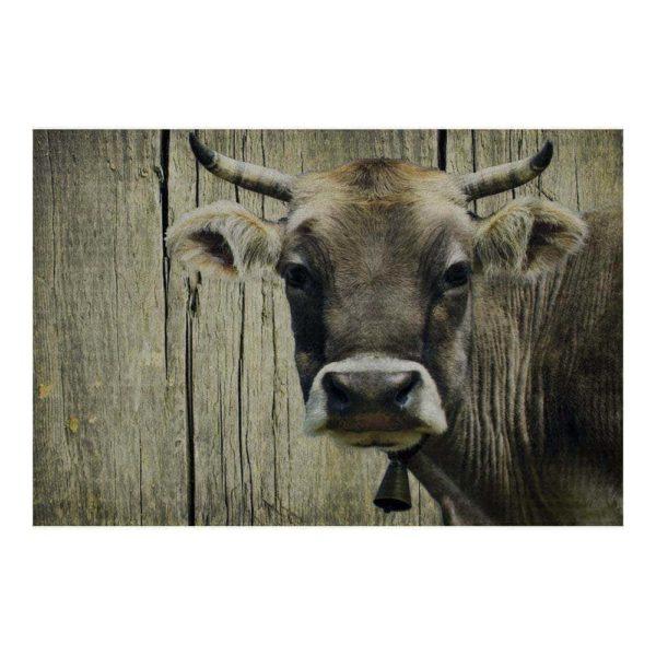 Fußmatte mit Kuh - groß