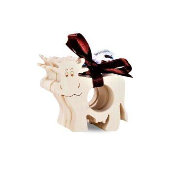 Serviettenringe Kuh 4er Set Holz