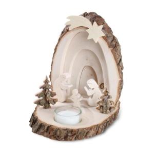 3D Weihnachtskrippe Holz als Stimmungslicht