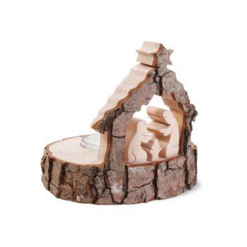 Weihnachtskrippe Holz als Stimmungslicht