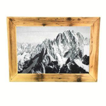 Altholz Bilderrahmen mit Alpen