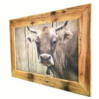 Altholz-Bilderrahmen- Kuh jetzt im Dekoshop online bestellen bei Allgaier-Allerlei®
