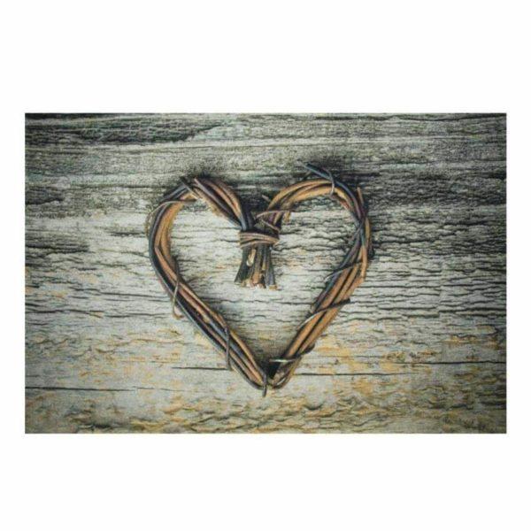 Fußmatte mit Herz rustikal - groß