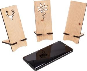 Handyhalter aus Holz - Hirsch