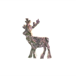 Holz-Hirschmit Rinde - klein | Dekofiguren aus Holz jetzt online bestellen im Dekoshop bei Allgaier-Allerlei®