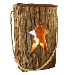 Holz Laterne Stern - gross