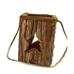 Holz Laterne mit Stern - klein