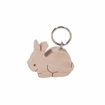 Holz Schlüsselanhänger Hase