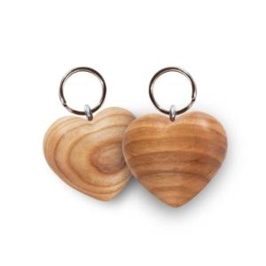 Holz Schlüsselanhänger Herz