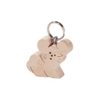 Holz Schlüsselanhänger Maus