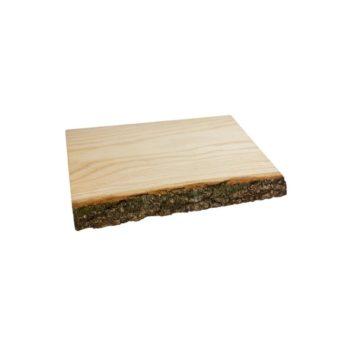 Schneidebrett Naturholz mit Rinde 30x20 cm