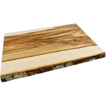 Schneidebrett Naturholz mit Rinde 45x30 cm