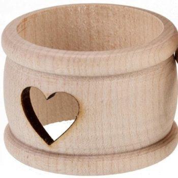 Holz-Serviettenring - Herz   Hochzeitsdeko für den Tisch online kaufen bei Allgaier-Allerlei®
