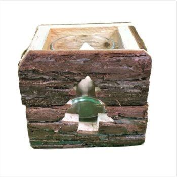 Teelichthalter aus Holz - Tanne