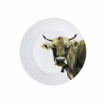 Teller mit Kuh 19 cm
