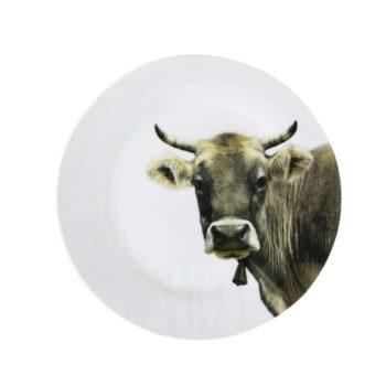 Teller mit Kuh 27 cm