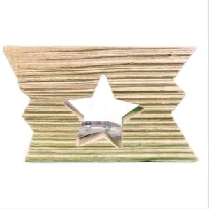 Treibholz Teelichthalter - Stern