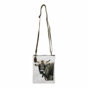 Umhängetasche aus Baumwolle - Kuh