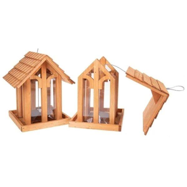 Vogelfutterhaus aus Holz - Elegance