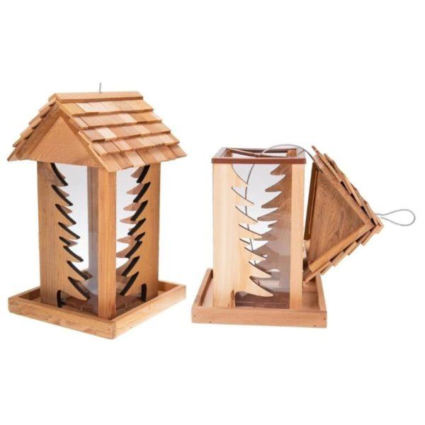 Vogelfutterhaus aus Holz - Wald
