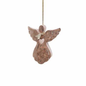 Holzanhänger - Engel mit Herz