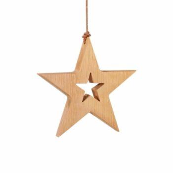 Holzanhänger Stern - groß