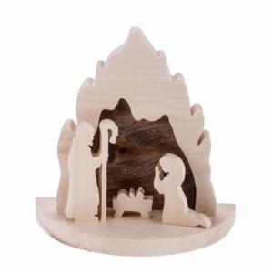Krippenstall aus Holz - groß
