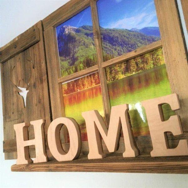 """Deko-Buchstaben """"Home"""" - groß"""