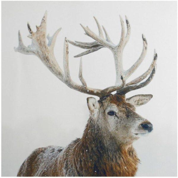 Wandbild - Hirsch im Winter