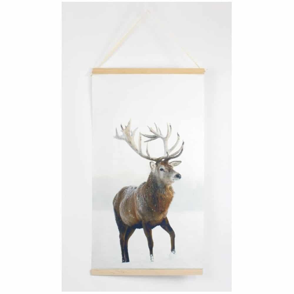 Wandbild - Hirsch im Winter jetzt direkt im Onlineshop für Deko bestellen.