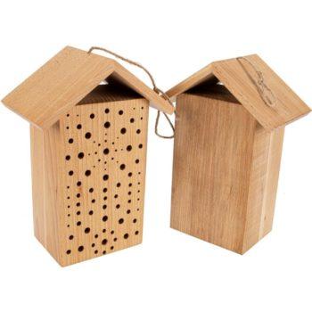 Bienenhaus - Nisthilfe für Wildbienen zur Gartendekoration aus Holz jetzt online kaufen im Dekoshop von Allgaier-Allerlei®