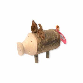 Bleistiftspitzer - Trudie handgemacht aus Holz als Glücksschwein jetzt online kaufen im Dekoshop auf www.allgei.de
