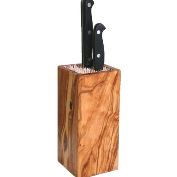 Design Messerblok aus Olivenholz als edles Küchenaccessoire für Dein Zuhause jetzt online kaufen im Dekoshop auf www.allgei.de