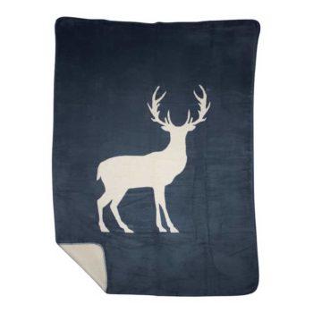 Kuscheldecke - Hirsch aus Polyester jetzt online kaufen im Dekoshop von Allgaier-Allerlei®