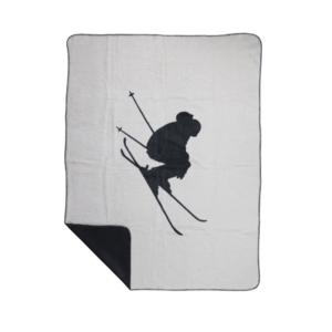 Extravagante Decke mit Skifahrer als Motiv. Besonderes Wohnaccessoire auch für Herren. Jetzt Dekoshop besuchen und online bestellen.
