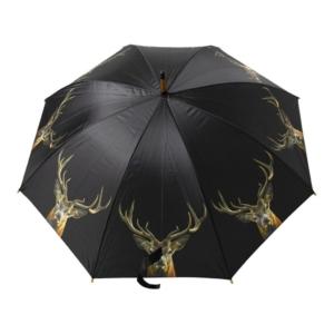 Regenschirm mit Hirsch in schwarz jetzt online kaufen im Dekoshop von Allgaier-Allerlei®