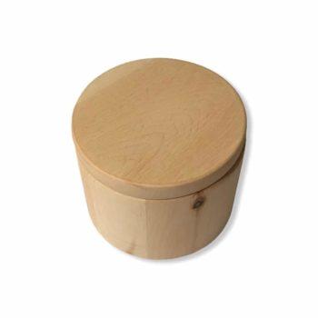 Zirben-Duftdose aus Zirbenholz gedrechselt mit Deckel. Außergewöhnliche Zirbendeko jetzt entdecken im Dekoshop von Allgaier-AllerleiZirben-Duftdose | Allgaier-Allerlei®