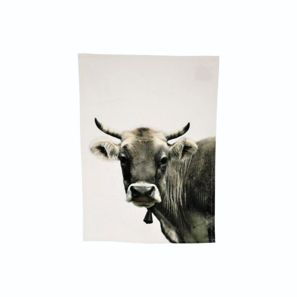 Geschirrtuch aus Baumwolle mit Kuh als besonderes Küchenaccessoire jetzt online kaufen im Dekoshop auf www.allgei.de