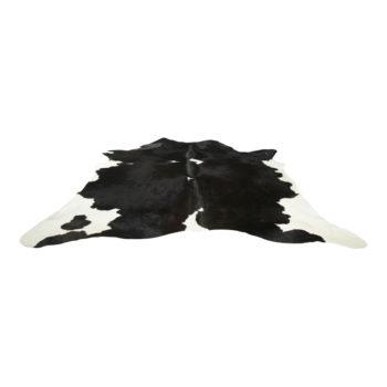 Kuhfell-Teppich - Schwarz mit Flecken | Echtes Kuhfell als Bodenteppich oder Wandteppich jetzt gleich online kaufen im Dekoshop Allgaier-Allerlei
