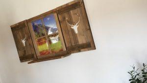 Bilderrahmen, Deko-Fensterladen, Landhausstil, Bauernhaus-Deko