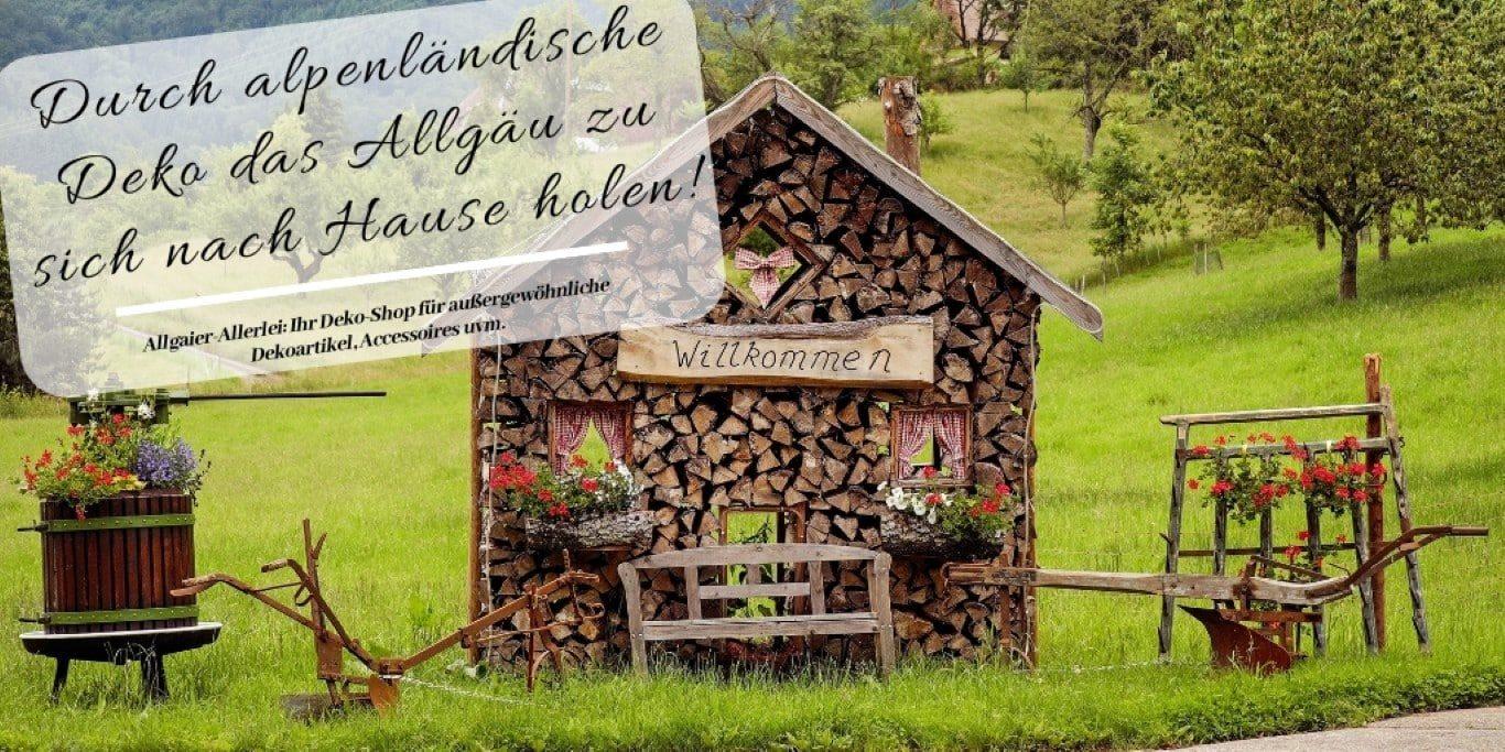 Durch alpenländische Deko das Allgäu zu sich nach Hause holen
