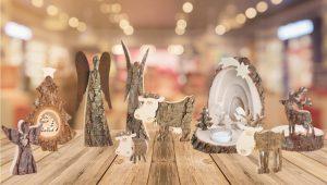 Holzfiguren als Deko zur Tischdeko, Fensterbankdeko oder Aufsteller aus Holz | Allgaier-Allerlei